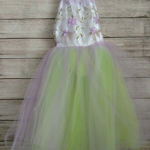 Ballerina style dress costume with tulle sequins